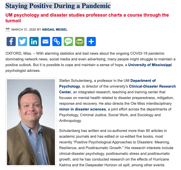 Staying Positive During a Pandemic